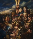 The Greed. Christ Preached Another Way.  oil on canvas,  2011