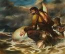 Mystical Divers.  oil on canvas,  2011