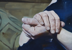 Hands, oil on canvas 50 x 70 cm, 2014