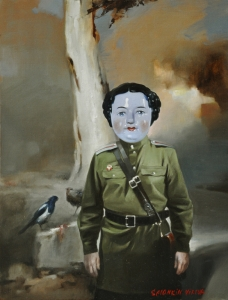 Innocence of soldier. 45 x 35 cm, oil on canvas 2015